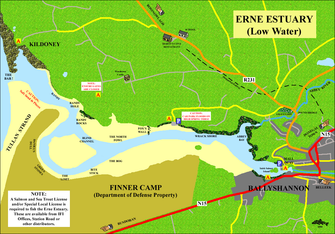 Erne estuary access map